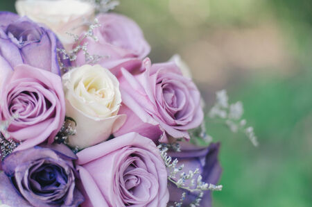 detail of a flowers bouquet made out of roses