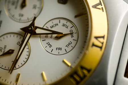 time concept, detail of a watch