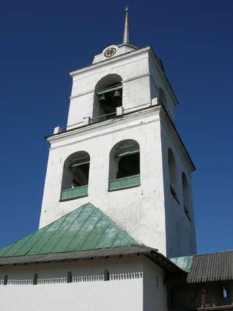 The bell tower of Pskov Kremlin photo