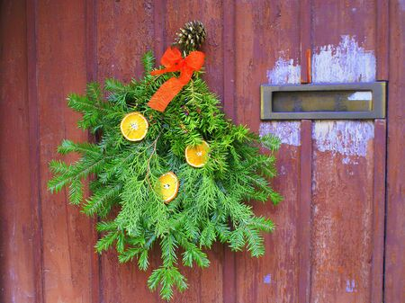 Christmas doors photo