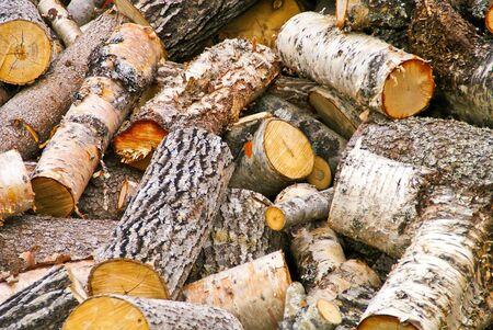 woodpile: Firewood Stock Photo