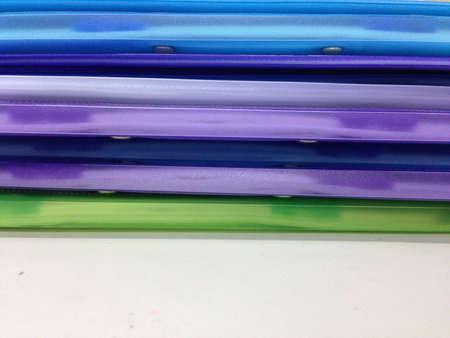 office desk: Folders on the office desk