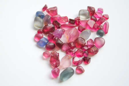 spinel: spinel gemstones on white background Stock Photo