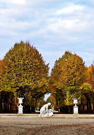 Park of the Sch?nbrunn Palace in Vienna, Austria in autumn