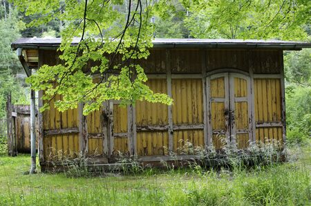 Old wooden shed in the forest Stock Photo - 10430918
