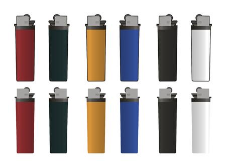 cigaret: lighter templates - illustration - vector