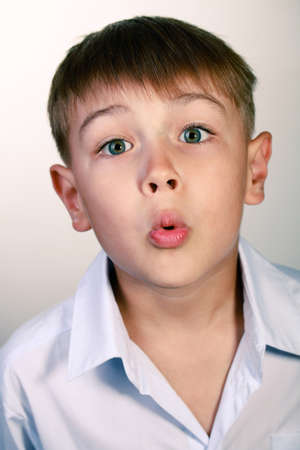 surprised kid: Surprised kid with his mouth open