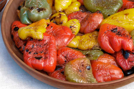 Fried peppers in a bowl
