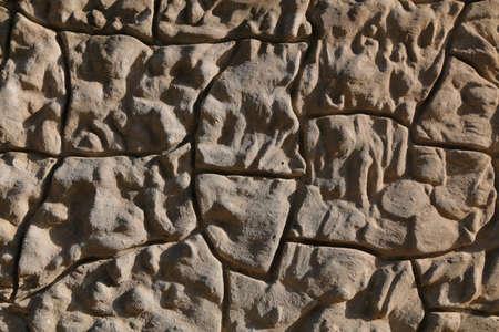 overbuilding: Ambiente poligonale pietra parete di fondo Archivio Fotografico