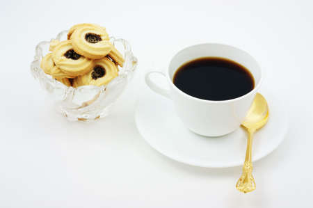 Coffee with delectable fruit filled biscuits for a break any time of day.