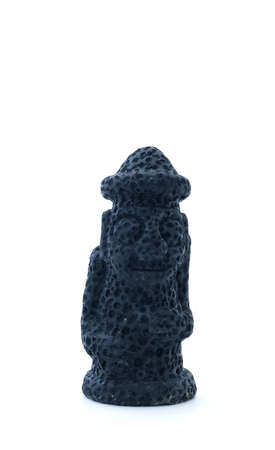 Fallo de ojos tiki estatua hecha de lava volcánica Foto de archivo - 4318290