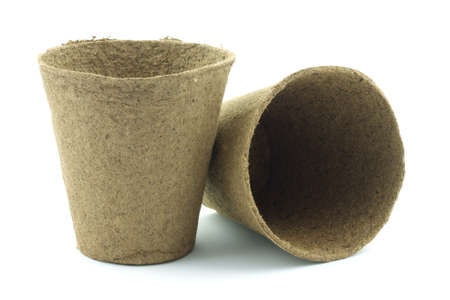 Two peat planting pots ready to use.