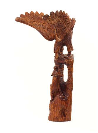 �guila tigre tallado en madera Foto de archivo - 4478429