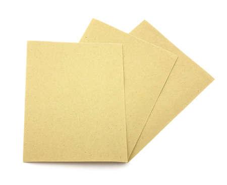 grit: Eighty grit sandpaper  Stock Photo
