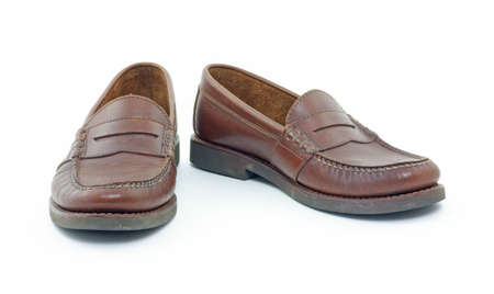 loafers: Leather penny loafers  Stock Photo