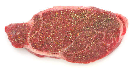seasoned: Seasoned London broil steak  Stock Photo