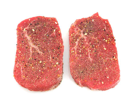 seasoned: Seasoned Angus beef eye round steak