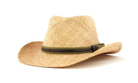 jaunty: Sombrero de paja Foto de archivo