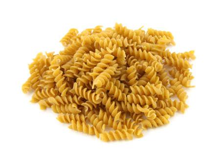 rotini: Rotini pastas de grano entero Foto de archivo