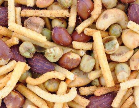 spicy: Spicy nut mix  Stock Photo