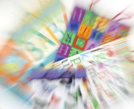 Blurred gift bags  免版税图像