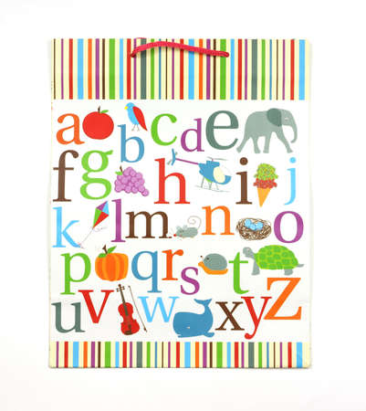 grape snail: Alphabet gift bag