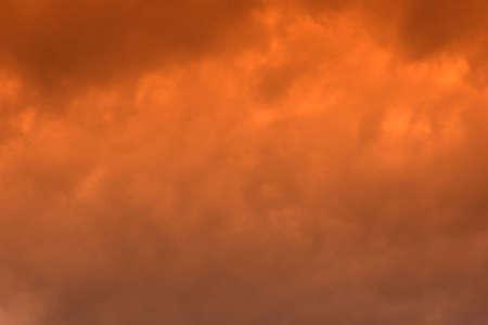 Brilliant sunlit clouds