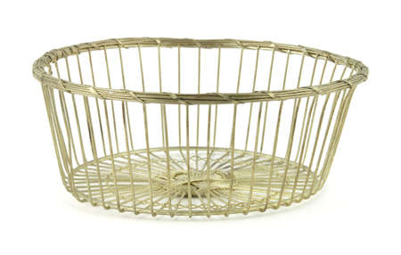 silver plated: Old silver plated wire basket
