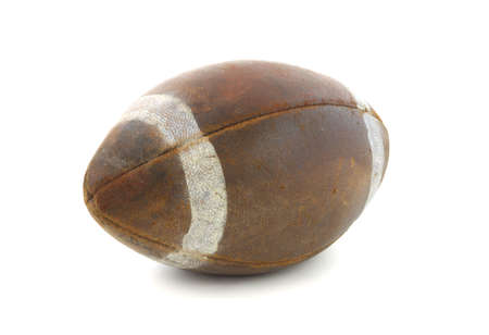 old items: Old football  Stock Photo