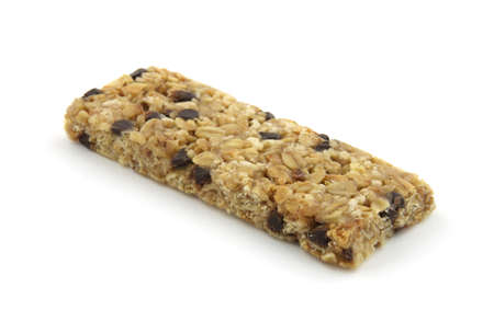 Chocolate chip granola bar  Stock Photo