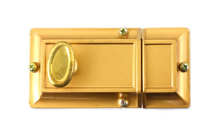 deadbolt: A new safety bolt for home entry doors. Stock Photo