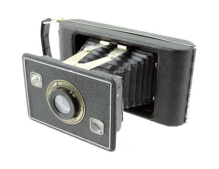 folding camera: Antique 620 format film folding camera  Stock Photo