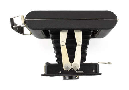 Top view of an antique 620 medium format film folding camera  photo