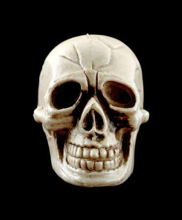 ghoulish: Small Halloween skull  Stock Photo