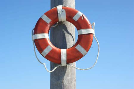 gouged: Lifesaving ring  Stock Photo