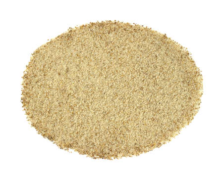 A portion of celery salt against a white background.