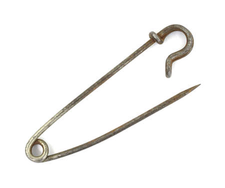old items: A vintage safety pin that was used for diapers in a bygone era.