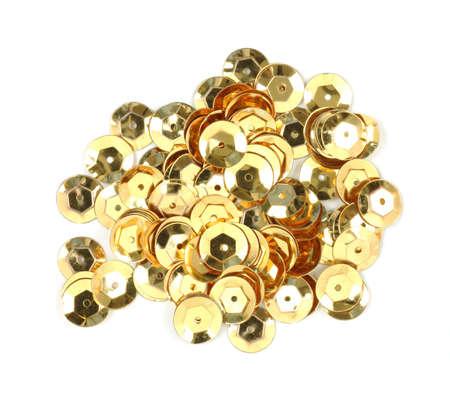 sequins: Gold sequins