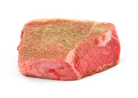 Seasoned bottom round roast