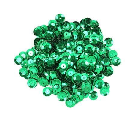 sequins: Green sequins