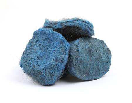 steel wool: Steel wool soap pads Stock Photo