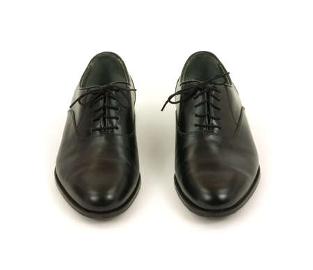 buffed: Pair of black mens dress shoes
