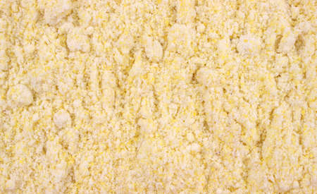 A very close view of corn muffin mix for making home made muffins.