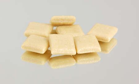 nicotine: Several pieces of nicotine gum  Stock Photo