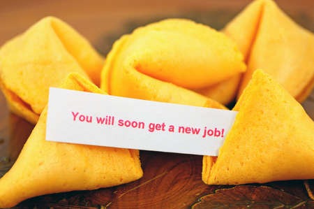 Fortune cookie with job prediction  photo