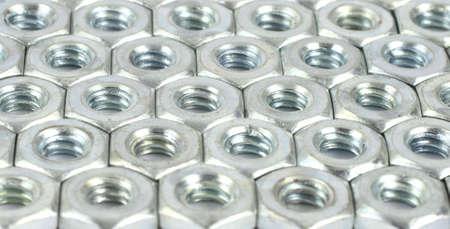 hex: Coarse thread hex nuts Stock Photo