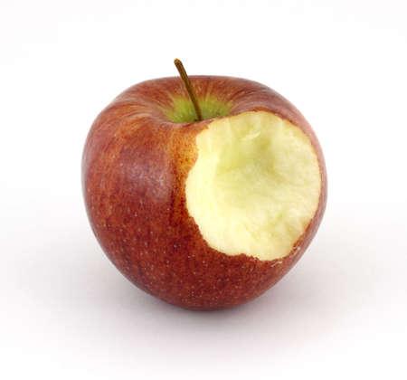 Cameo apple that has been bitten Reklamní fotografie