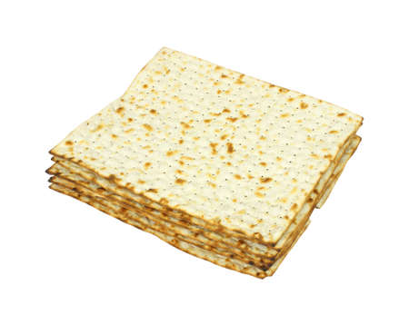 Several matzo crackers on a white background. Stock Photo - 7130658