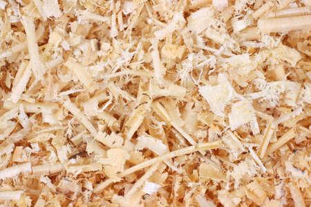 Een zeer nauwe blik van de textuur van houtspaanders.