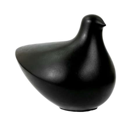perdrix: Une perdrix art moderne noir sur un fond blanc.  Banque d'images